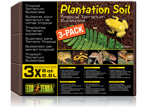 Exo Terra - Plantation Soil 3-pack