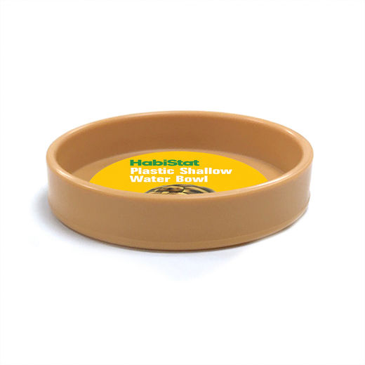 Habistat - Round Plastic Water Bowl, Shallow Large